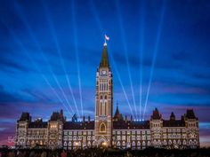 Light Show in Parliament Hill by RichardHuang4  Canada Nightscape Ottawa Night photography EM-5 Light Show Parliament hill RichardHuang4