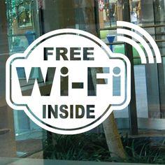 FREE Wi-Fi INSIDE Vinyl Sticker for Store Shop Business Window Door Glass
