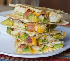 Chicken Bacon Avocado Quesadilla #SundaySupper | Dinners, Dishes, and Desserts