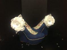 Madeline Haenel - The perfect complement to my denim corset! Denim Wedges by Brittney Scott Designs... | via Facebook
