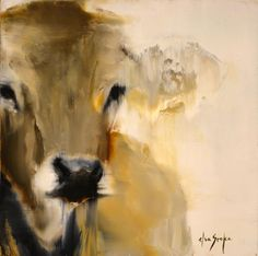 Pauline by Elsa Sroka Oil ~ x Cow Painting, Cow Art, Animal Paintings, Beautiful Artwork, Pet Portraits, Farm Animals, Cows, Abstract Art, Fine Art