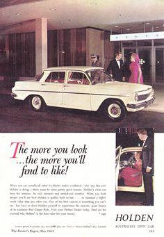 https://flic.kr/p/22ioNKE   1963 EJ Holden Special Sedan Aussie Original Magazine Advertisement