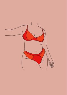 Outline Drawings, Art Drawings, Body Image Art, Small Canvas Paintings, Nude Portrait, Body Drawing, Feminist Art, Body Positive, Love Art