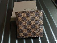 Authentic Louis Vuitton Multiple Damier Ebene Bifold Bifold Men wallet