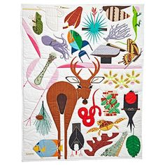 Charley Harper Florida Keys Baby Quilt | The Land of Nod