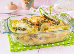 Pasta al forno con asparagi e besciamella