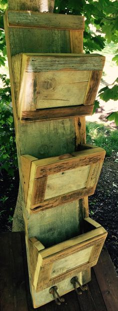 Reclaimed mail sorter by pear44 on Etsy