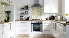 B&Q Gloss White Slab, Kitchen Cabinet Doors & Fronts, Kitchens White Kitchen Cabinet Doors, Kitchen Cabinet Door Styles, White Gloss Kitchen, Best Kitchen Cabinets, Kitchen Units, Painting Kitchen Cabinets, Kitchen Cabinet Design, Kitchen Tiles, Diy Cupboards
