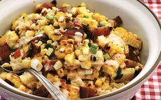 Guy Fieri's Chipotle Corn Salad with Grilled Bacon