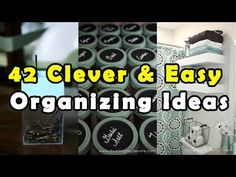 (12) 42 Clever & Easy Organizing Ideas - All Time Best - YouTube