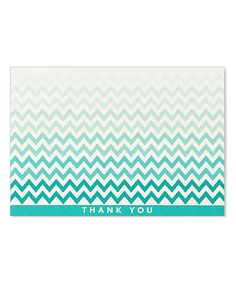 Chevron Thank You Note Set by Peter Pauper Press #zulily #zulilyfinds