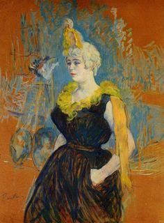 Henri de Toulouse-Latrec (French 1864–1901) [Post-Impressionism, Art Nouveau] The Clown Cha-U-Kao, 1895. Private Collection.