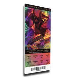 Texas Longhorns Wall Art - 2006 Rose Bowl/BCS National Championship Game Mega Ticket