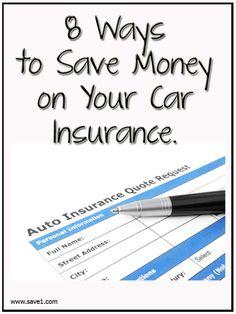 finance nestegg 8 Ways To Save Money On Your Car Insurance Ways To Save Money, Money Tips, Money Saving Tips, Car Insurance Tips, Insurance Quotes, Assurance Auto, Budgeting Finances, Budgeting Tips, Show Me The Money