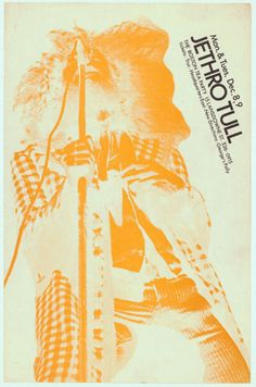 DEC: Jethro Tull - Boston Tea Party Concert Poster Festival Posters, Concert Posters, Vintage Music Posters, Classic Blues, Jethro Tull, Psychedelic Music, Vintage Rock, Rock Posters, Best Rock