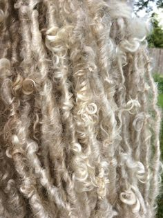 HANDSPUN Mohair Wool Natural Lock Spun Bulky YARN by waycoolstuff09 on Etsy