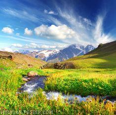 Jual poster Gambar pemandangan alam gunung  #poster #mountains #nature #alam #gunung #pegunungan #murah