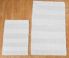 Castle 2 Piece 100% Cotton Wide Cut Reversible Bath Rug Set