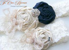 Something NAVY Blue Vintage Romance Bridal by TheChicaBoutique, Etsy ~ Wow, wish I'd had this when I got married!