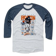 Walter Payton Stats B Chicago Officially Licensed Baseball T-Shirt Unisex S-3XL