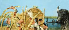 Sumerian village.