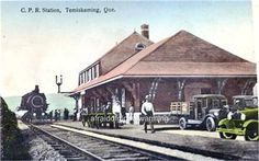 TEMISKAMING, Québec.- Canadian Pacific Railway station-Gare - pc