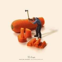 """Miniature Calendar"" – New Artworks from Tatsuya Tanaka's Great Daily Photo Project ...repinned für Gewinner!  - jetzt gratis Erfolgsratgeber sichern www.ratsucher.de"