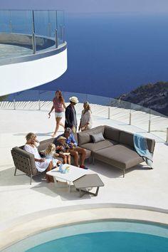 Lounge havemøbler Conic modul sofa system cane-line Garden Sofa, Outdoor Garden Furniture, Lounge Furniture, Outdoor Decor, Furniture Design, Outdoor Range, Modul Sofa, Willow House, Modular Lounges