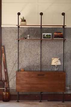pretty obsessed with this one. Industrial Wood and Pipe Bookcase by logandiron on Etsy, $1500.00