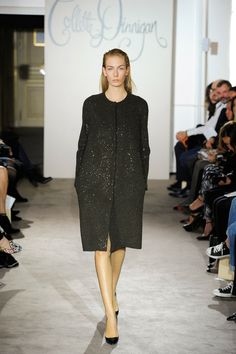 A wondferful example of luxe wool in a simple shape. Collette Dinnigan A/W 2013