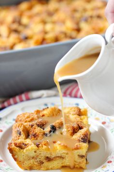 Panettone Bread Pudding With a Creamy Rum Syrup | Olga's Flavor Factory