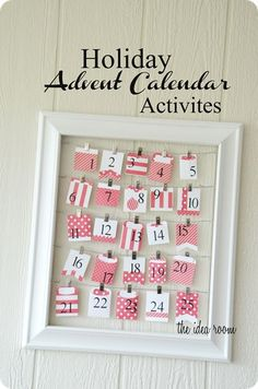 Christmas Advent Calendar - I love that this mom is a Working Mom and she keeps the printed list of activities in her desk.  Before she goes home she cuts which one they have time to do THAT DAY and places it in the envelope before her kids open it.
