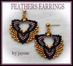 some free patterns - smukke øreringe i 3 farver