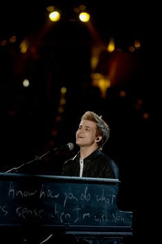Hunter Hayes rehearses for the 55th Annual GRAMMY Awards