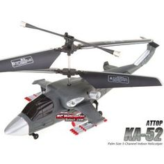Attop YD818 KA 52 Micro 3 Channel RC Helicopter with Gryo RTF