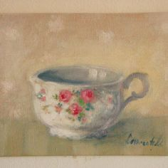 Little Cup with Roses Little Cup, My Etsy Shop, Roses, Painting, Shopping, Art, Art Background, Pink, Rose
