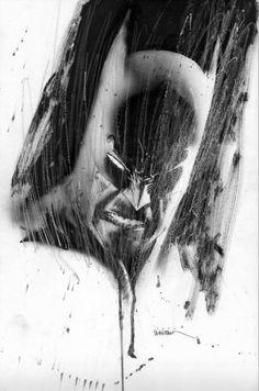 """alexhchung: """"Batman by Bill Sienkiewicz """""""