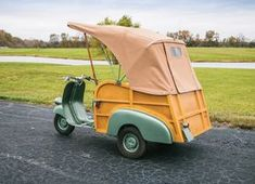 1953 Piaggio Ape Calessino- The light commercial transport vehicle that helped Italy get back on its feet after the damages of the Second World War. Piaggio Vespa, Vespa Scooters, Vespa Roller, Vintage Cycles, Alfa Romeo Cars, Vintage Sports Cars, Bmw Series, Side Profile, Pedal Cars