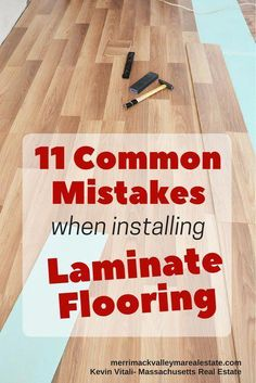 Avoid these 11 common mistakes when installing laminate floors. Certainly in the realm of a DIY'er is installing laminate floors. Avoiding these mistakes will make for a new, problem free installation that can enhance your homes resale value. Installing Laminate Flooring, Basement Flooring, Diy Flooring, Flooring Ideas, Kitchen Laminate Flooring, Flooring Options, Laminate Floor Repair, Laminate Stairs, Flooring Types