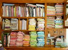 Stash of super inspirational quilter, Rita, aka Red Pepper Quilts.