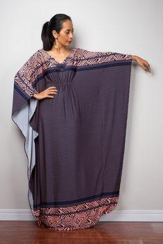 Blue and pink kaftan dress #nuichan #maxi #shopping #fashion