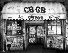 CBGB in the 70's and 80's the birthplace of the Ramones and the Clash the place that inspired music around the world.