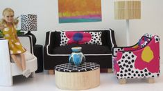 Hey, I found this really awesome Etsy listing at https://www.etsy.com/listing/202082298/barbie-black-and-white-sofa