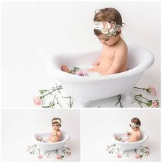 """I had so much FUN with this sweet little girl! Caroline was the perfect model to introduce my """"Milk Bath"""" stylized mini sessions. I've had this inspiration brewing for quite a while, and gleaned some tips and advice from some well-known photographers as I planned out what they would look like.…"""