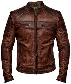 Mens Biker Vintage Motorcycle Distressed Brown Cafe Racer Leather Jacket in Roup… Mens Biker Vintage Motorrad Distressed Brown Cafe Racer Lederjacke in Kleidung, Schuhe & Accessoires, Herrenbekleidung, Jacken & Mäntel Brown Leather Jacket Men, Best Leather Jackets, Biker Leather, Real Leather, Leather Men, Vintage Leather Jacket, Sheep Leather, Lambskin Leather, Mens Coats And Jackets