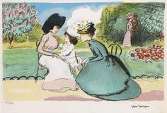 Kees van Dongen - Dans la ParcM, 1950, Color litograph