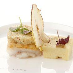 Gebakken tongschar met hazelnootboter, hete bliksem en chips van Elstar appel - Maison van den Boer !