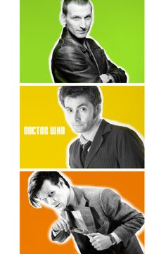 Ninth, Tenth and Eleventh Doctors from Doctor Who <3