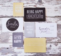 gorgeous free printables: simple as that: Favorite Quotes Mini Album : Be Happy Collection