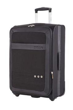 Mała walizka Titan Family II czarna 33540303-01 lekka i pakowna